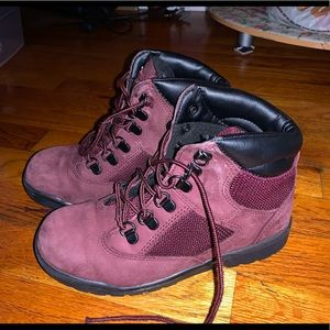 Timberland boots snow boots burgundy boots